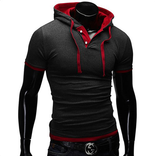Slim Fitness Hooded T-Shirt (8 colors)