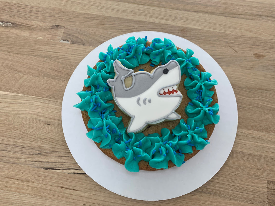 SHARK WEEK cookie cake
