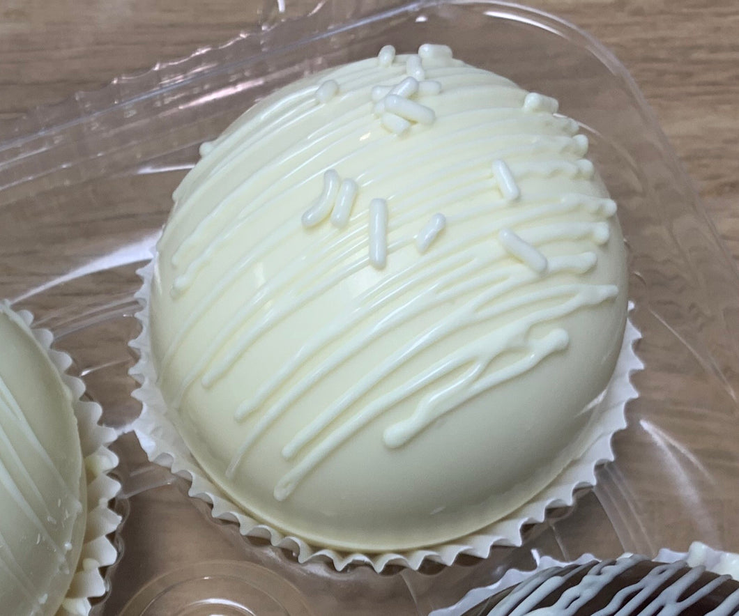 White Chocolate Cocoa Bomb with White Sprinkles-12/22-12/23 pickup