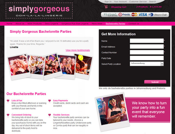 Bachelorette Party Bookings