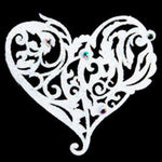 Passionate Bridal White Tattoo With Swarovski Crystals