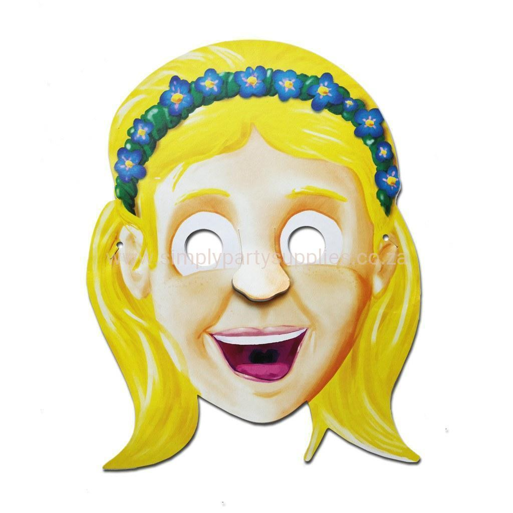 Cardboard Cutout Mask - Happy Girl Cardboard Cutout Mask