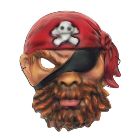 EVA Foam Pirate Mask - Red Skull Bandana