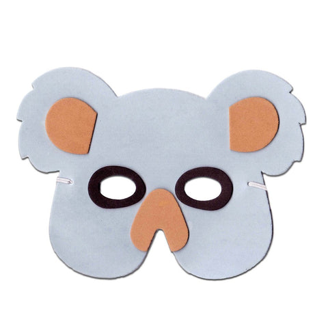 Koala Bear Childrens Foam Animal Mask - Grey animals, bear, boys, child one size, childrens, fancy dress, foam, girls, half masks, koala, masks