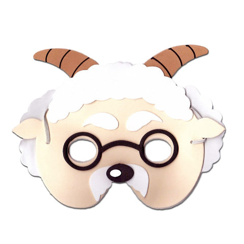 Goat Childrens Foam Animal Mask - With Glasses animals, boys, child one size, childrens, fancy dress, foam, girls, goat, half masks, masks, ram