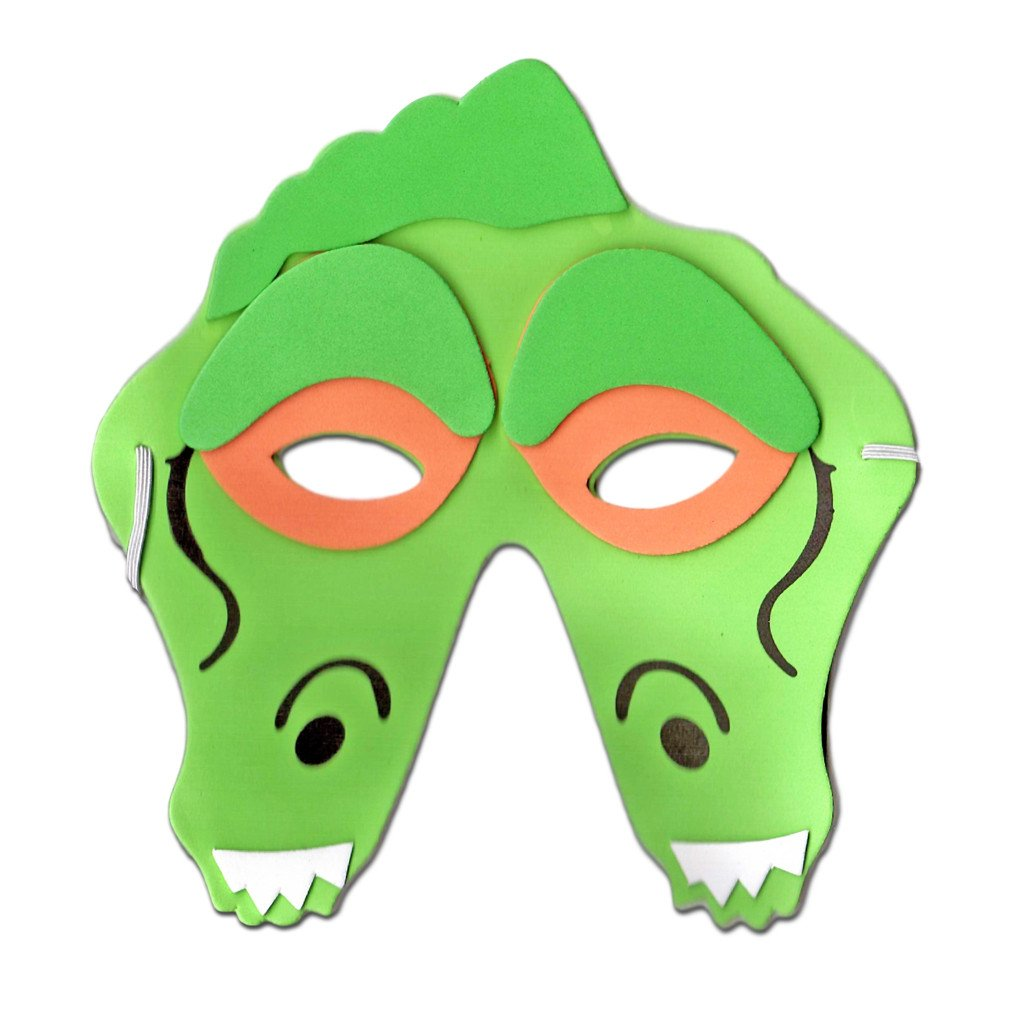 Crocodile Childrens Foam Animal Mask - Childrens Masks - Simply Party Supplies
