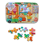 Free Imagination 60pc Puzzle in Travel Tin - Shopping in Town