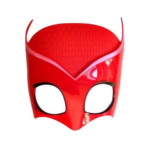 Children's Superhero Plastic Owl Mask child one size, childrens, fancy dress, girls, heroes, mask, owl, owlette, pink, PJ masks, pjmasks, red, superhero, superhero mask
