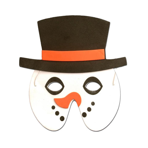 Snowman Childrens Foam Christmas Mask