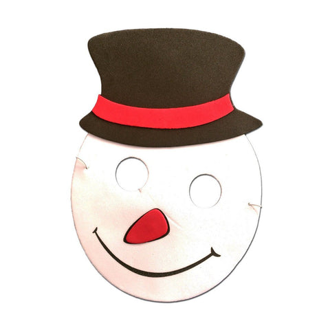 Snowman Round Childrens Foam Mask