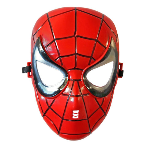 Childrens Spider Boy Fancy Dress Mask - PVC Mask - Simply Party Supplies