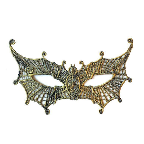 Economy Pointed Butterfly String Masquerade Mask Gold