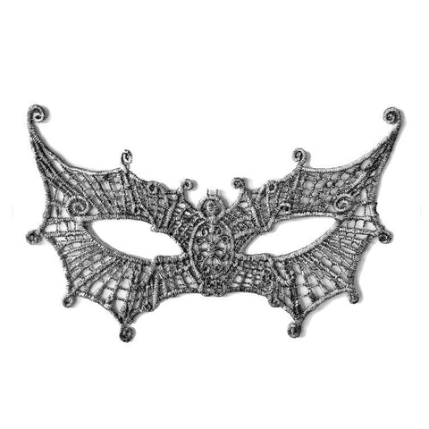 Economy Pointed Butterfly String Masquerade Mask Silver