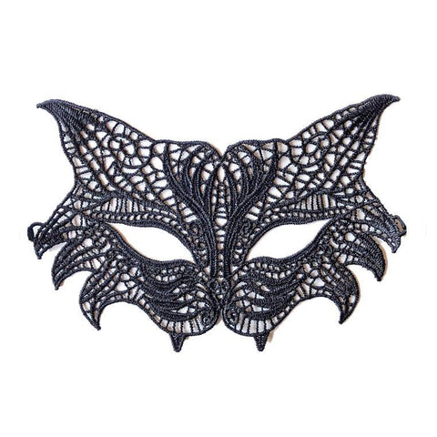 Economy Wild Cat Style String Masquerade Mask Black