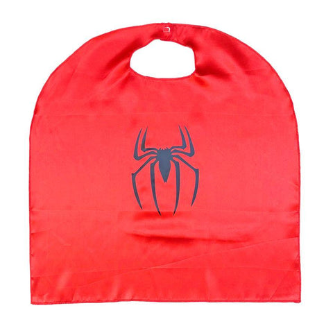 Children's Budget Superhero Satin Cape - Spider Boy - Fancy Dress Costume - Simply Party Supplies