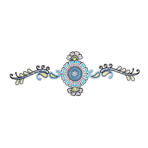 Blue Flower Crystal Temporary Tattoo Sticker colour, flower, sticker, tattoo, wholesale