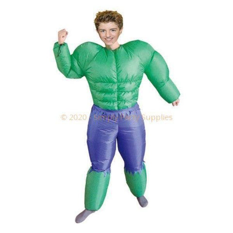 Fancy Dress Costume - Inflatable Green Hero Costume