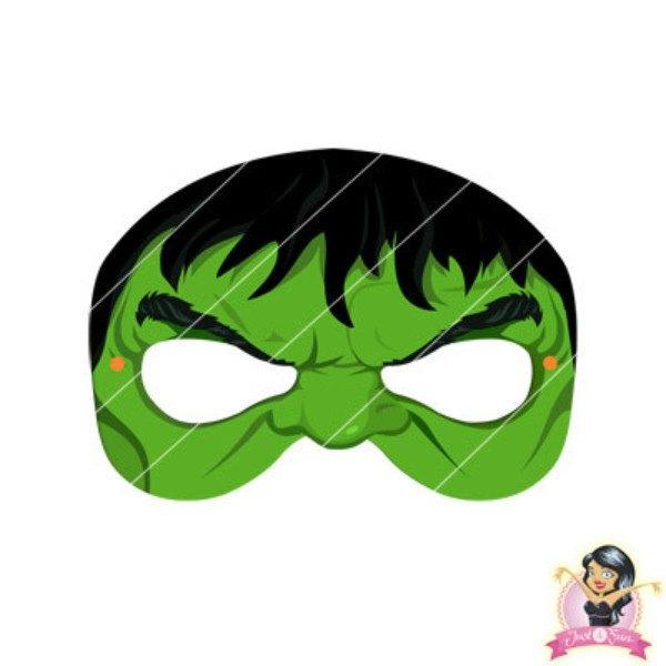 image about Printable Masks titled Acquire Childrens Do-it-yourself Printable Avengers Hulk Mask at Merely Social gathering Components for basically R 7.50