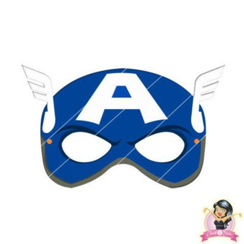 image relating to Printable Masquerade Mask identify Purchase Childrens Do it yourself Printable Avengers Captain The united states Mask at Just Social gathering Materials for merely R 7.50