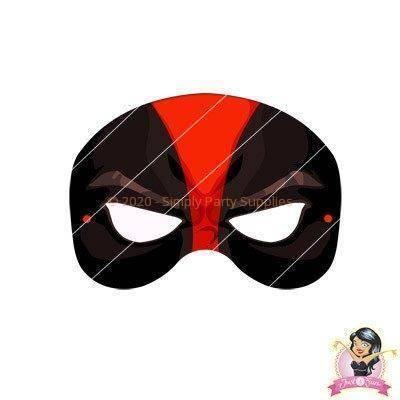 Childrens DIY Printable Deadpool Mask