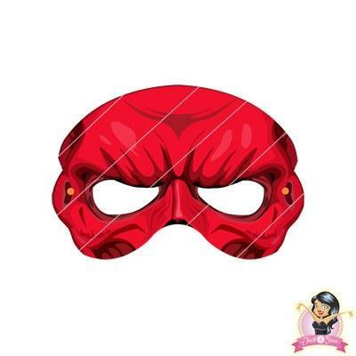 Childrens DIY Printable Red Skull Mask