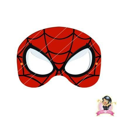This is an image of Unusual Spiderman Mask Printable