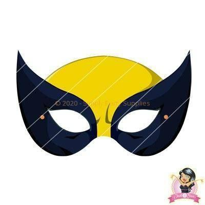Childrens DIY Printable X-Men Wolverine Mask - Printable Masks - Simply Party Supplies