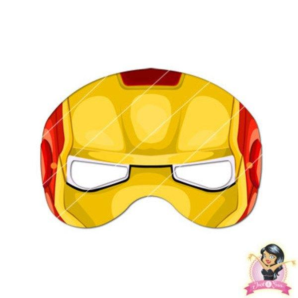 photo about Super Hero Printable Masks identified as Childrens Do-it-yourself Printable Ironman Mask