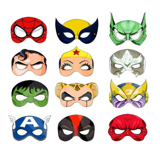 image relating to Mask Printable referred to as Purchase Do it yourself Printable Masks - Tremendous Heroes And Villains Range 1 at Basically Get together Elements for basically R 60.00