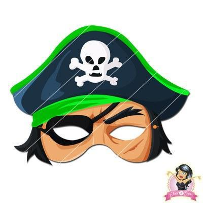 graphic relating to Captain America Mask Printable identified as Childrens Do-it-yourself Printable Pirate Mask - Inexperienced