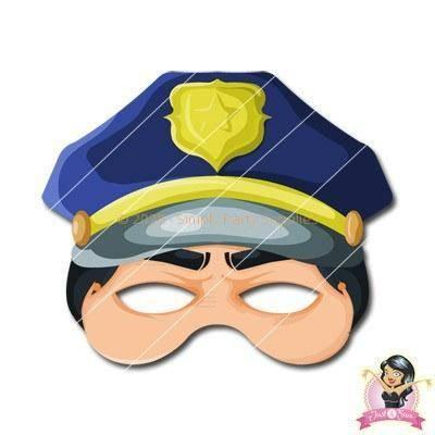 Childrens DIY Printable Policeman Mask