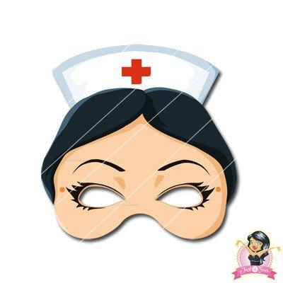 Childrens DIY Printable Nurse Mask
