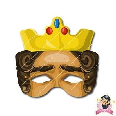 Childrens DIY Printable King Mask