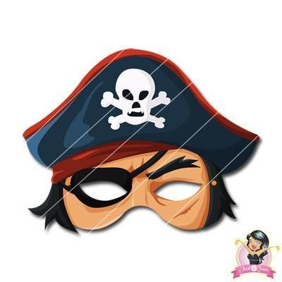 Childrens DIY Printable Pirate Mask