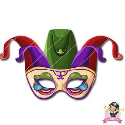 Childrens DIY Printable Jester Mask 1 - Printable Masks - Simply Party Supplies