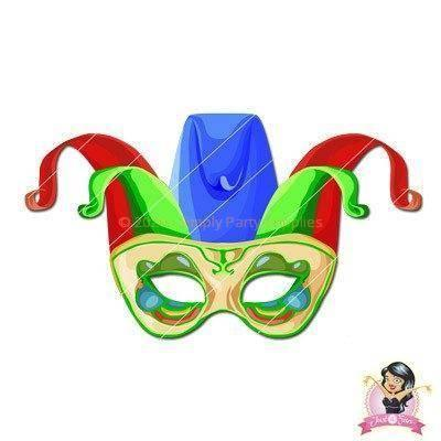 Shop for printable party masks at simply party supplies affiliate printable masks childrens diy printable jester mask 2 solutioingenieria Image collections
