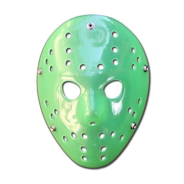 PVC Mask - Hockey Mask - Green Glow In The Dark