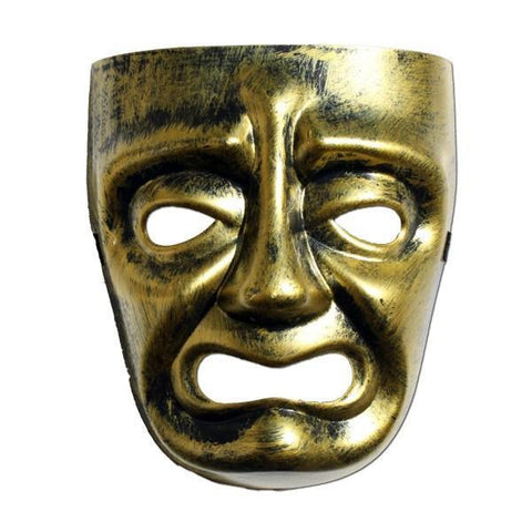 Masquerade Mask - Mens Masquerade Mask - Gold Sad