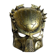 Gold AvP Mask adult one size, fancy dress, gold, halloween, masks, masquerade, mens, scary