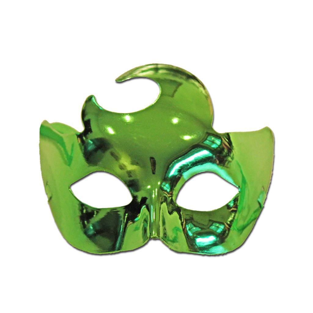 Masquerade Mask - Masquerade Mask Plain With Crescent Moon In Green