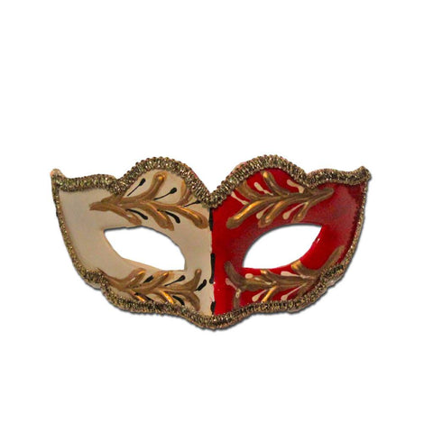 Masquerade Mask - Petite Childrens Masquerade Mask - White And Red