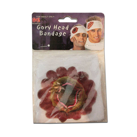 Fancy Dress Costume Accessory - Gory Head Bandage Bullet Hole