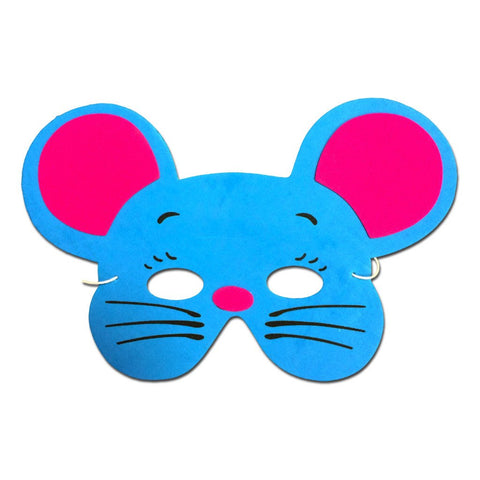 Childrens Masks - Mouse Childrens Foam Animal Mask - Turquoise Blue