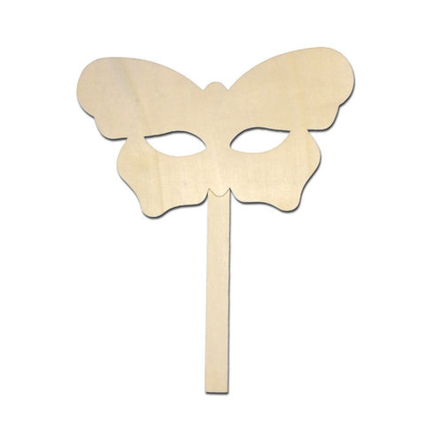 Masquerade Mask - DIY Masquerade Stick Mask - Butterfly