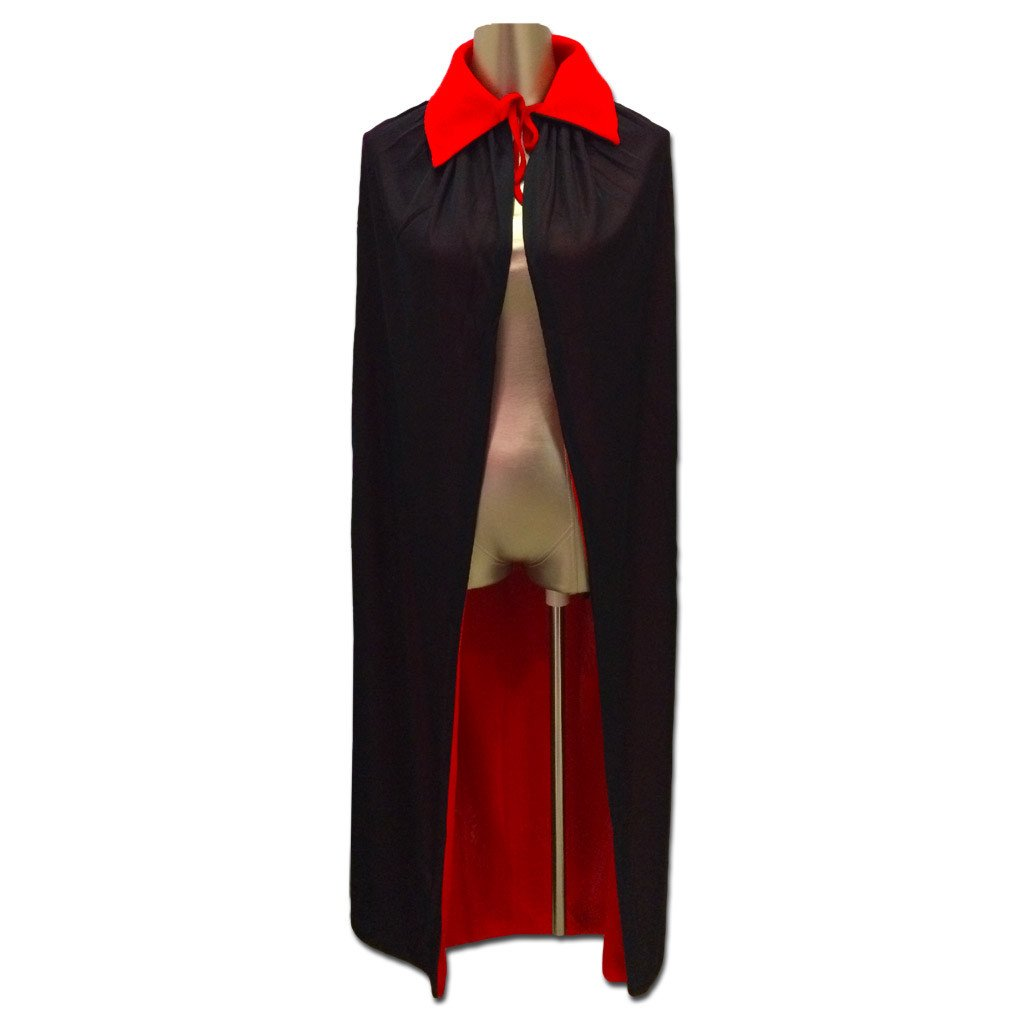 Dracula Cape - 120cm adult, boys, cape, childrens, costume, dracula, fancy dress, halloween, mens, phantom of the opera, vampires, villains, womens