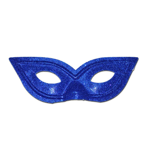 Pointy Blue Glitter Masquerade Mask