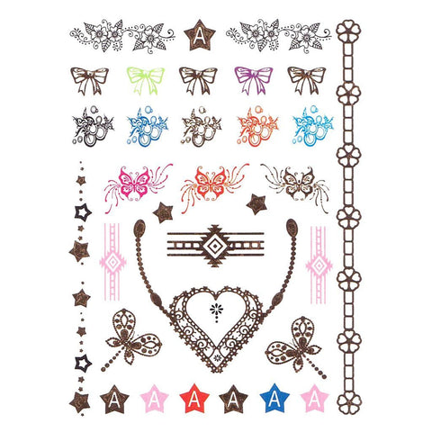Sweet Heart Temporary Hand Tattoo Pack colour, hand, tattoo, wholesale