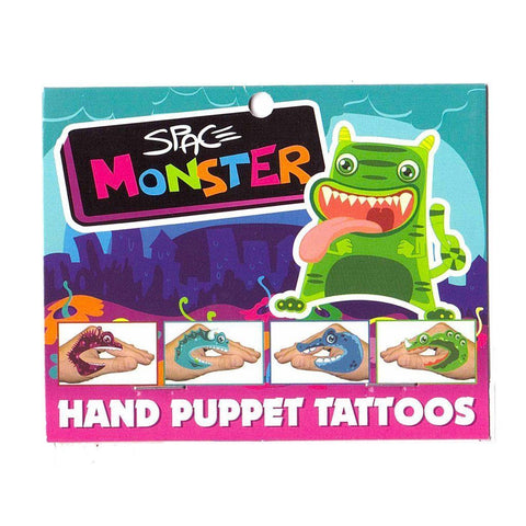 Red Monster Left Hand Tattoo colour, hand, monster, puppet, tattoo