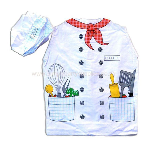 Childrens Chefs Costume Ages 4-7 - Fancy Dress Costume - Simply Party Supplies