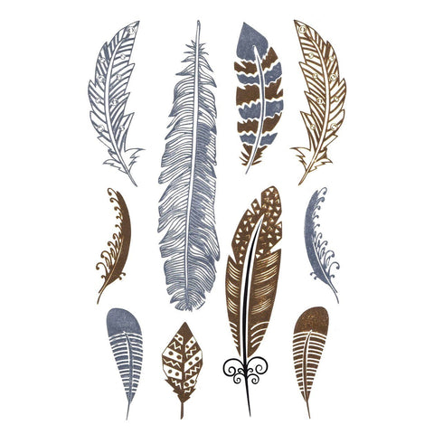 Silver And Gold Metallic Jewellery Tattoo - Design 53 fancy dress, feather, gold, jewellery, metallic, silver, tattoo, wholesale, womens